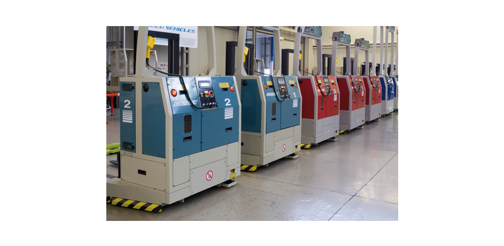 Veicoli automatici a guida laser